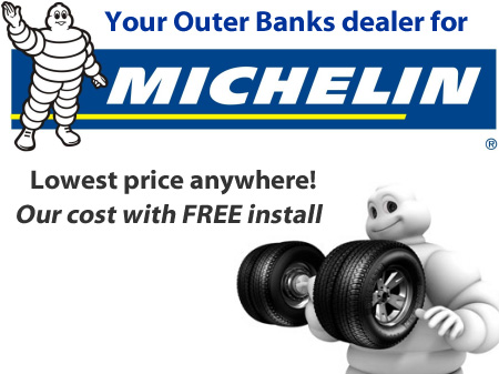Outer Banks Tires Michelin Tire Discount Our Price Free Install